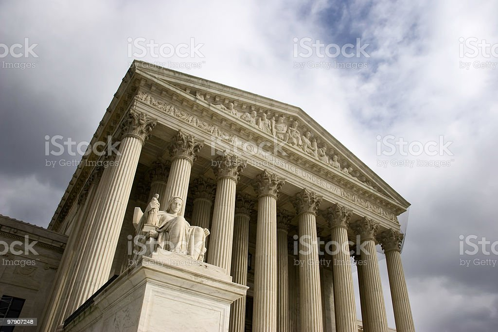 Front of U.S. Supreme Court Building royalty-free stock photo