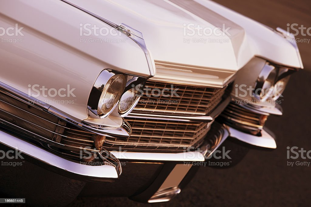Front of Vintage American Car royalty-free stock photo