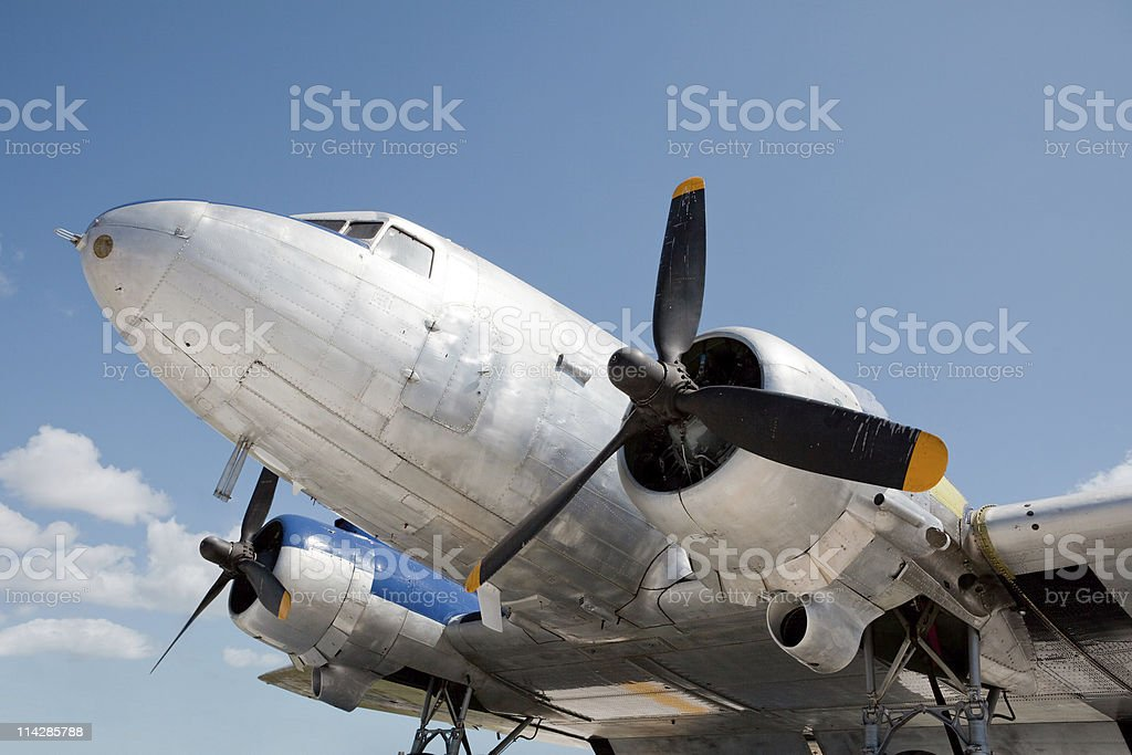 Front of World War Two bomber royalty-free stock photo