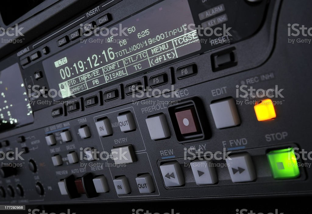 Front panel of the digibeta recorder stock photo