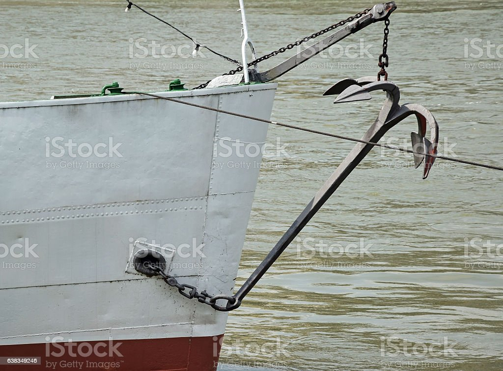 Front part of a ship stock photo