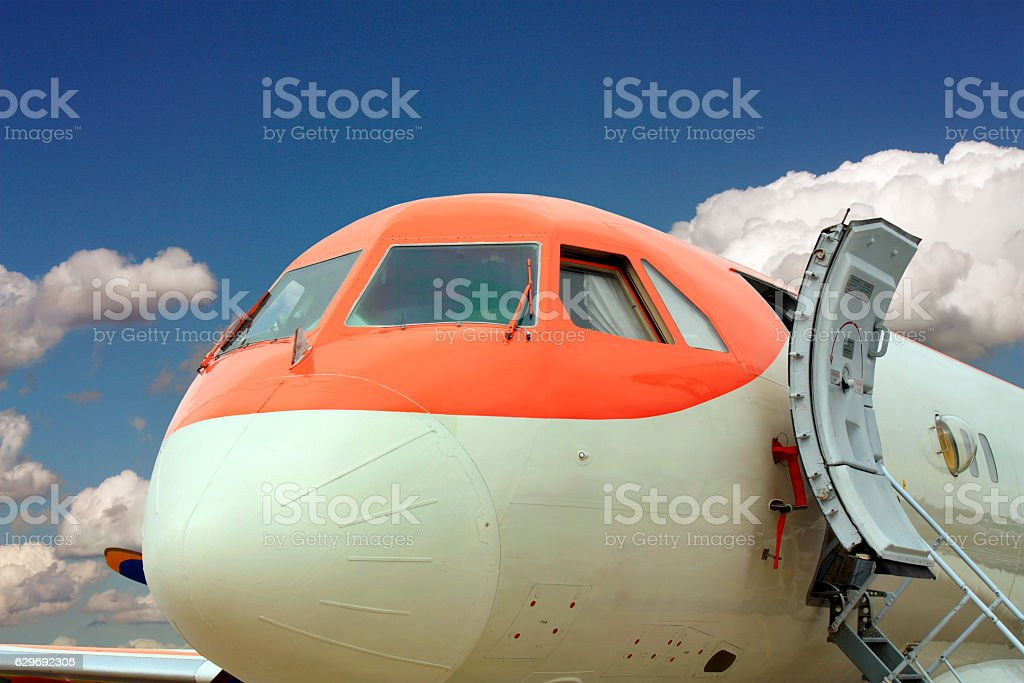 Front part of jet stock photo