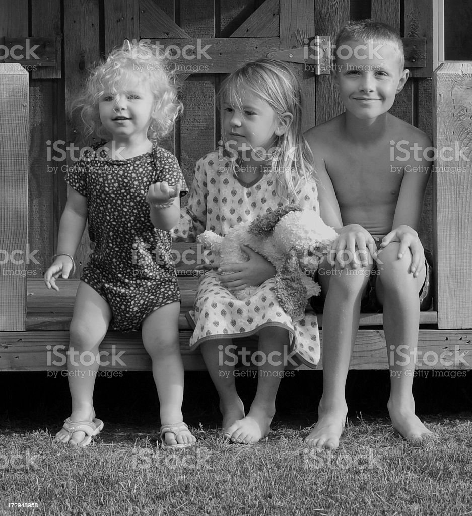 Front Porch Kids stock photo