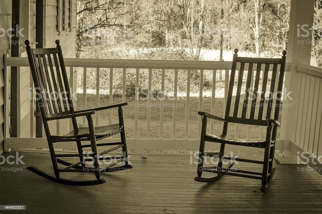 Front Porch Sitting stock photo
