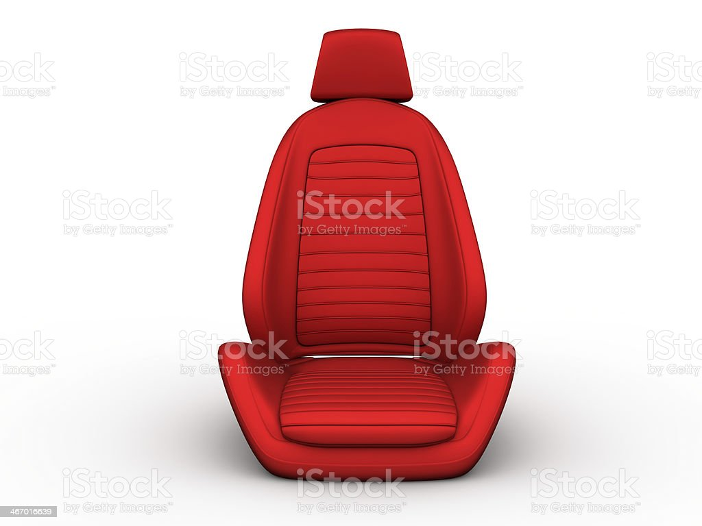 Front red car seat stock photo