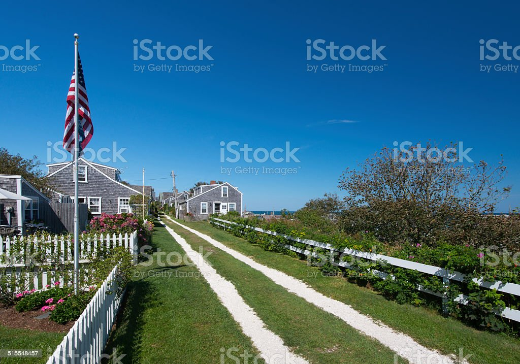 Front Road Sconset Nantucket MA stock photo