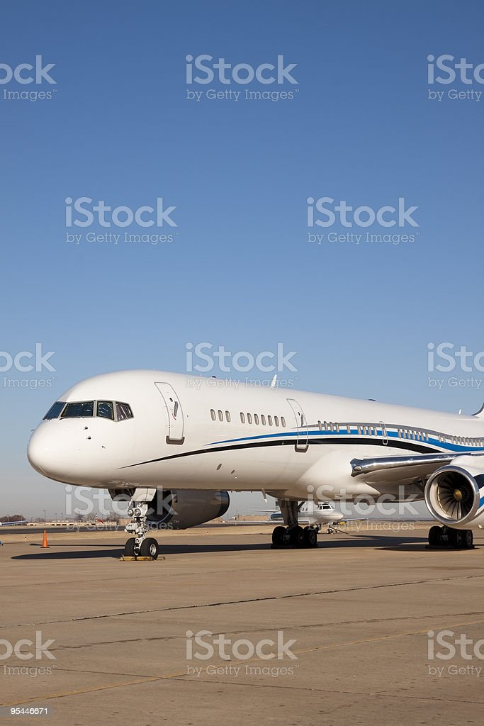Front Section of a Custom Private Jumbo Jet XL royalty-free stock photo