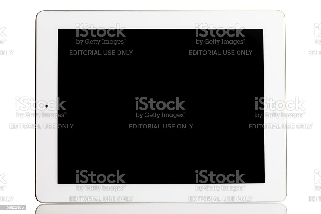 Front side of iPad 3 royalty-free stock photo