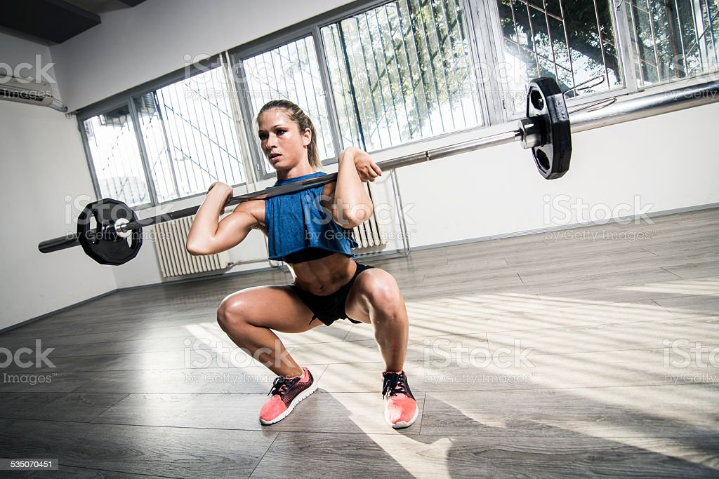 Front squat stock photo
