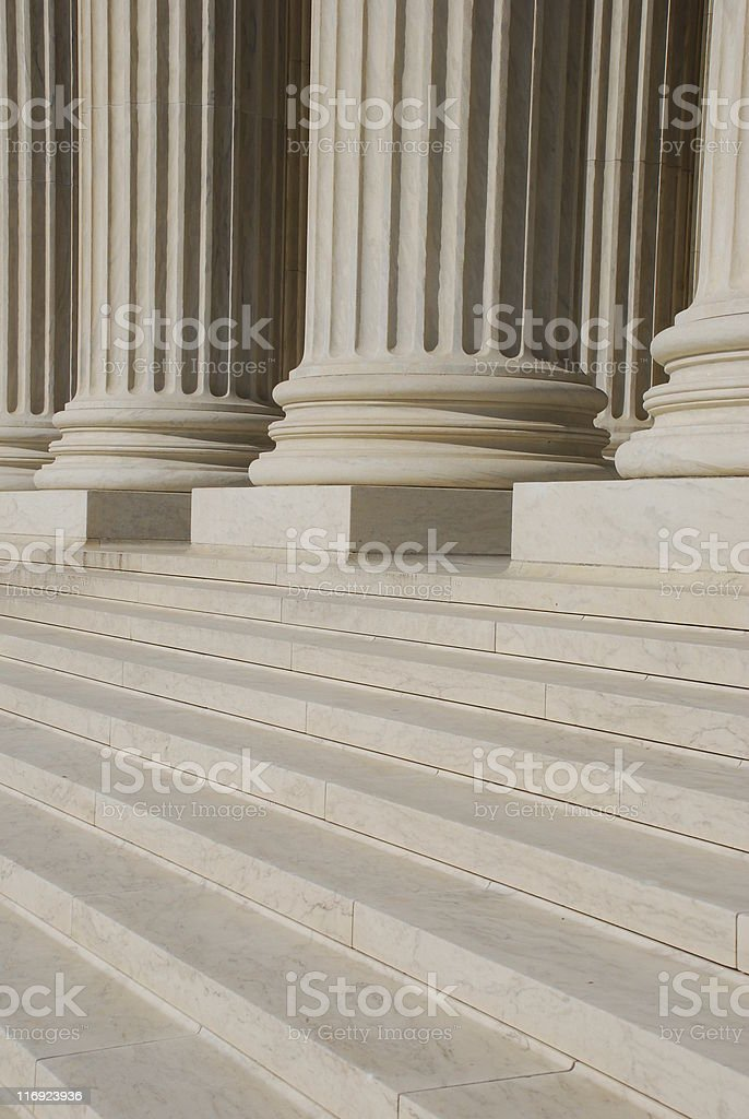 Front Steps of US Supreme Court royalty-free stock photo