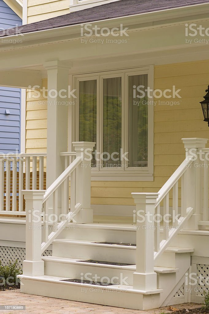 Front steps royalty-free stock photo
