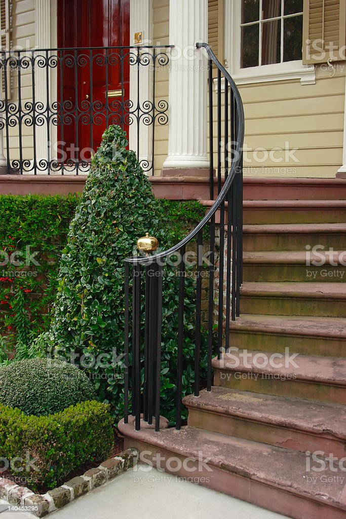 Front Steps To Luxury Home royalty-free stock photo