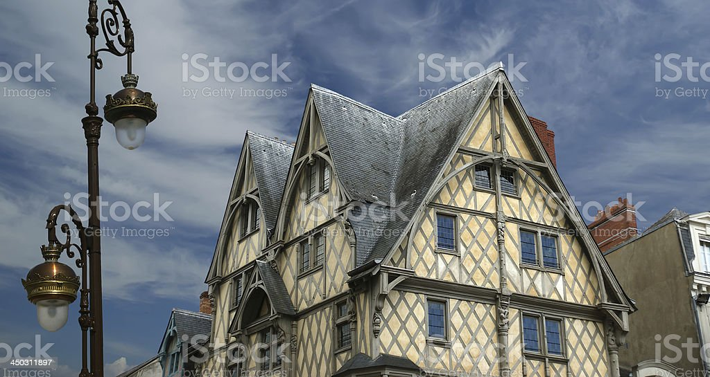 Front the House of Adam, Angers, France stock photo