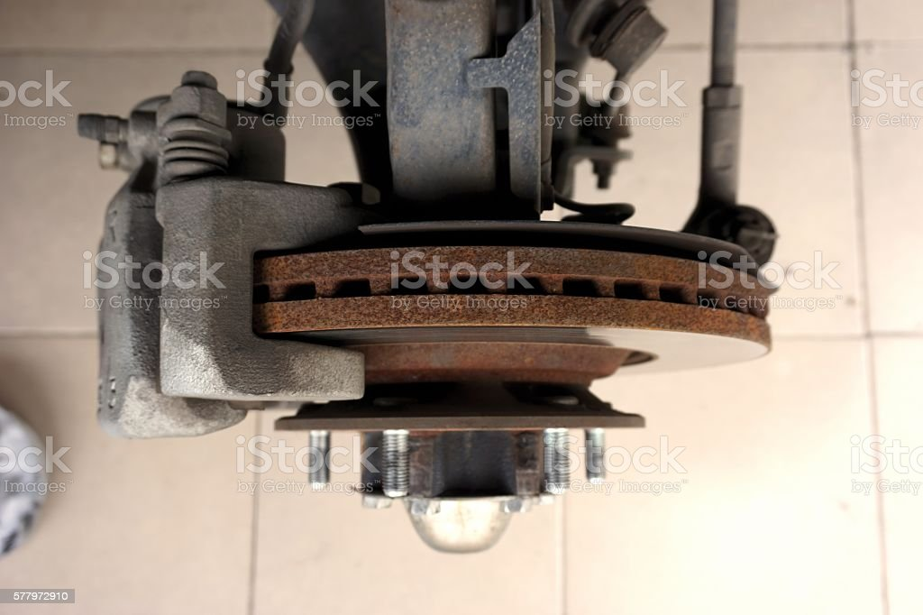front vehicle brake stock photo