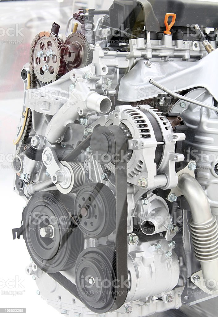 front view car engine detail royalty-free stock photo