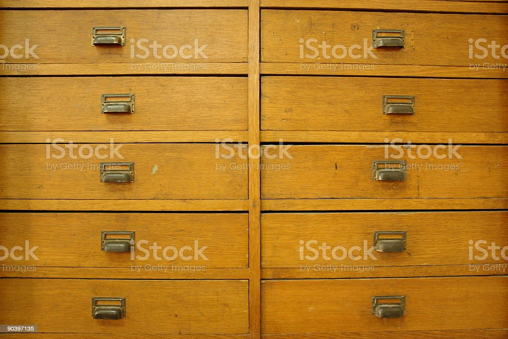 Front view: drawers royalty-free stock photo
