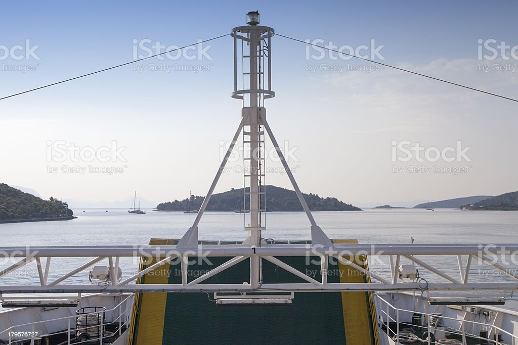 Front view from a ferry boat royalty-free stock photo