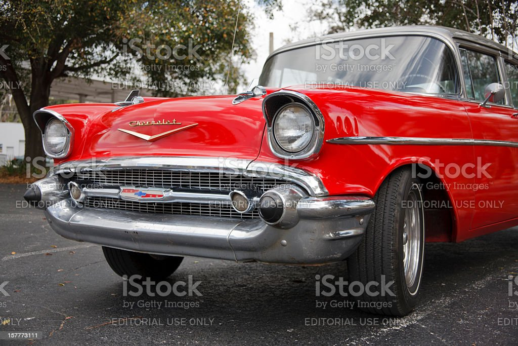 Front View of a Classic Chevrolet royalty-free stock photo