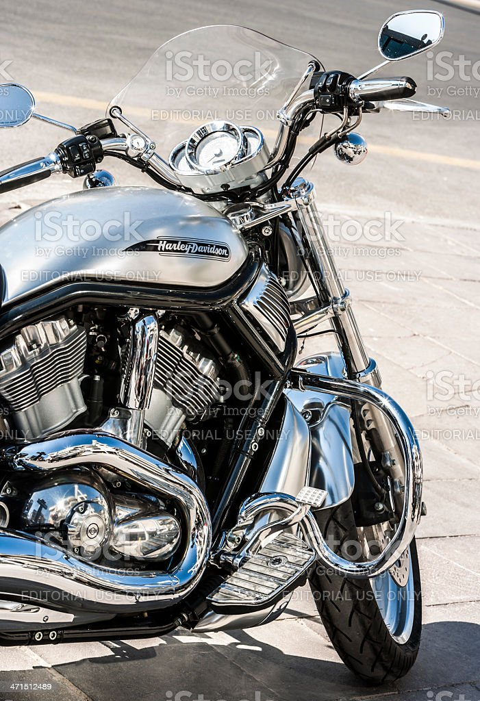 Front view of a Harley Davidson stock photo