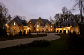 Front View of a Mansion