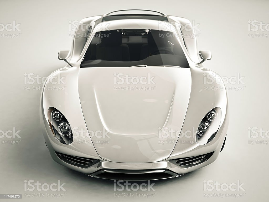 Front View of a Sports Car royalty-free stock photo