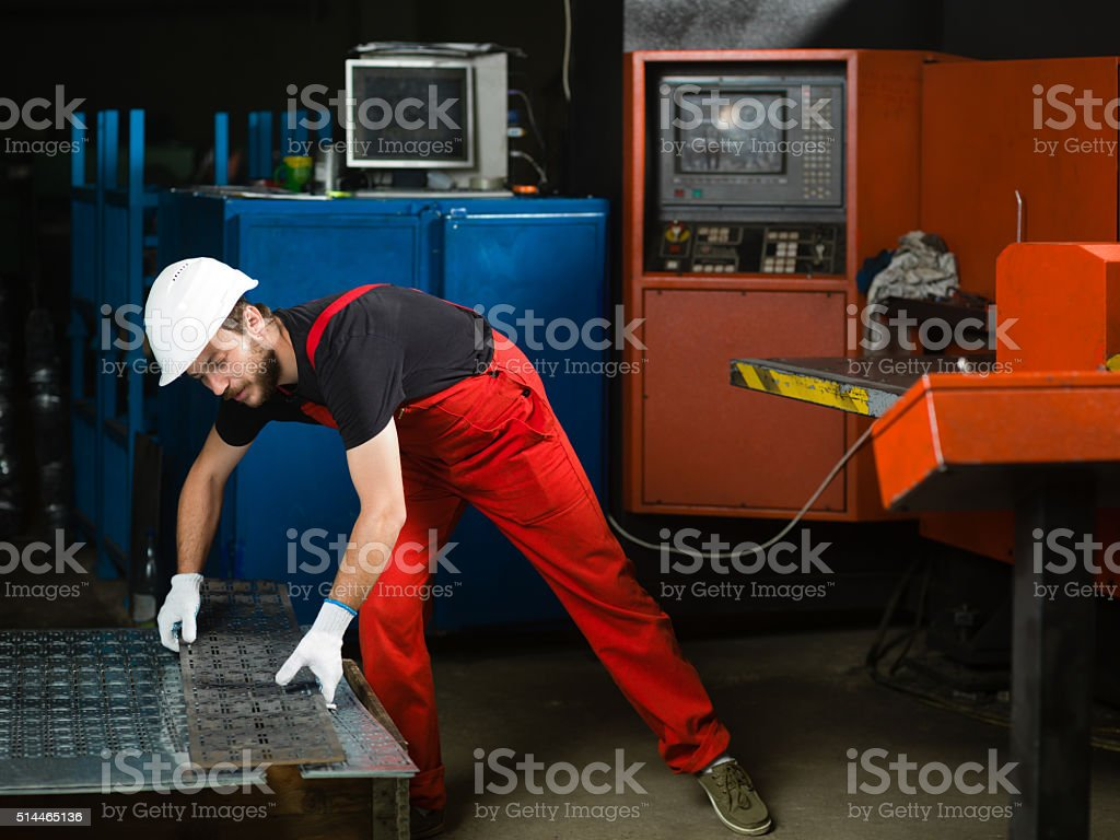 front view of a worker stock photo