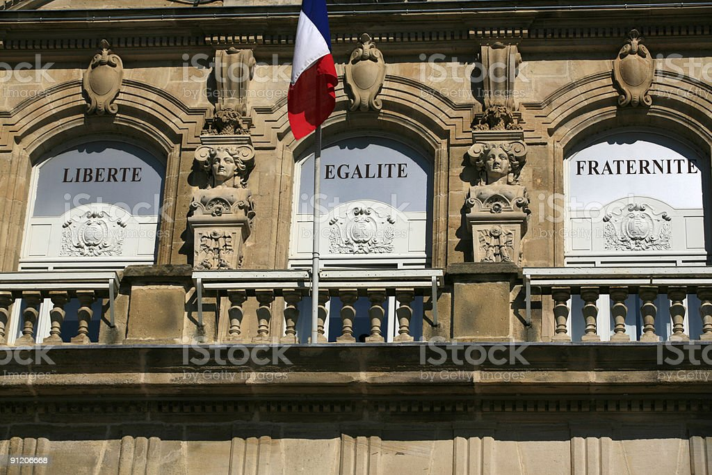 front view of Autun's city hall royalty-free stock photo
