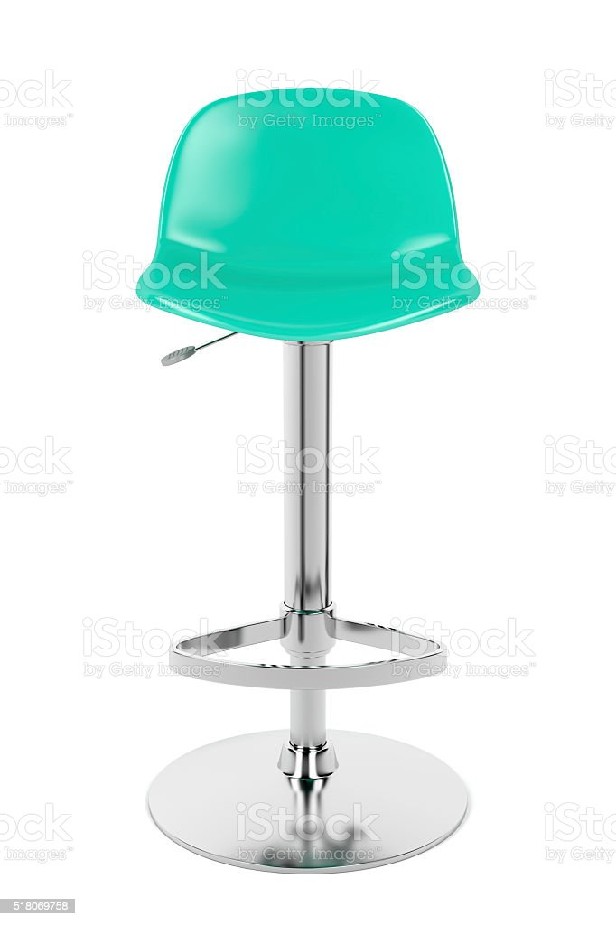 Front view of bar stool stock photo