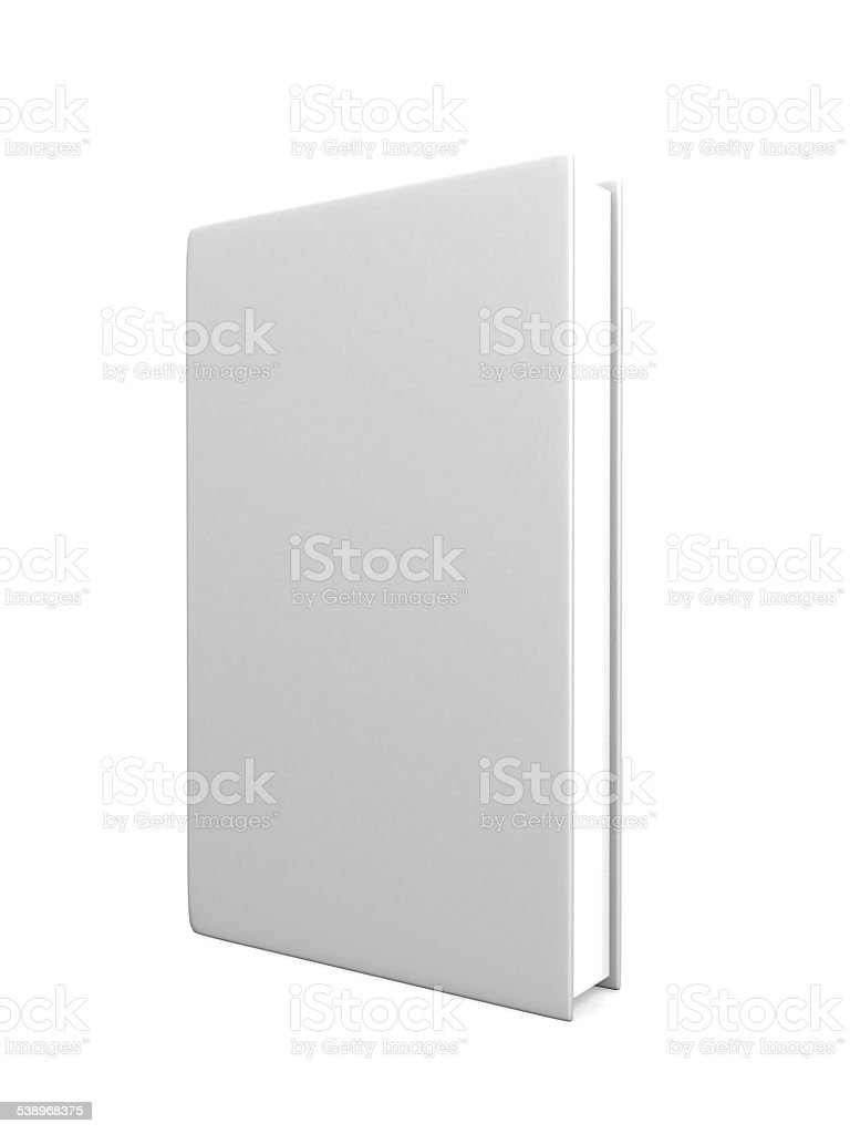 front view of Blank book cover white stock photo