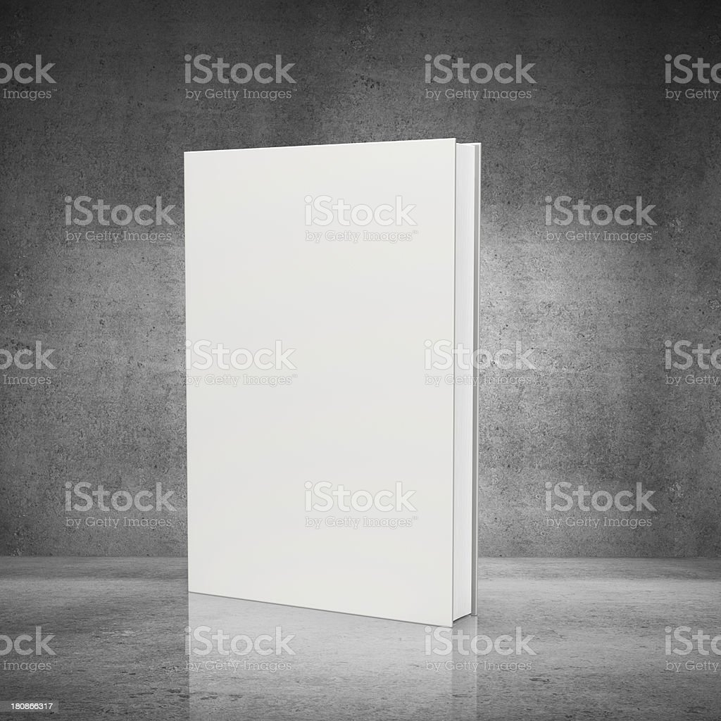 front view of blank book stock photo