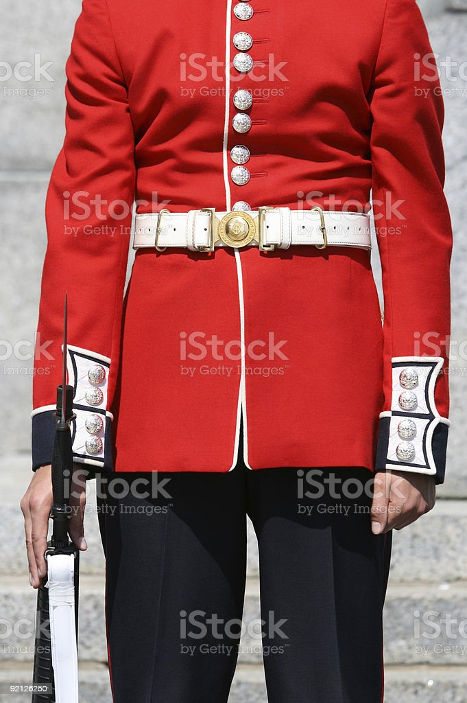 Front View of Foot Guard stock photo