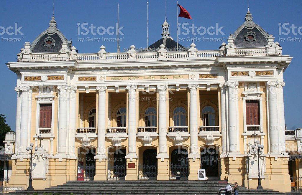 front view of hanoi opera house royalty-free stock photo