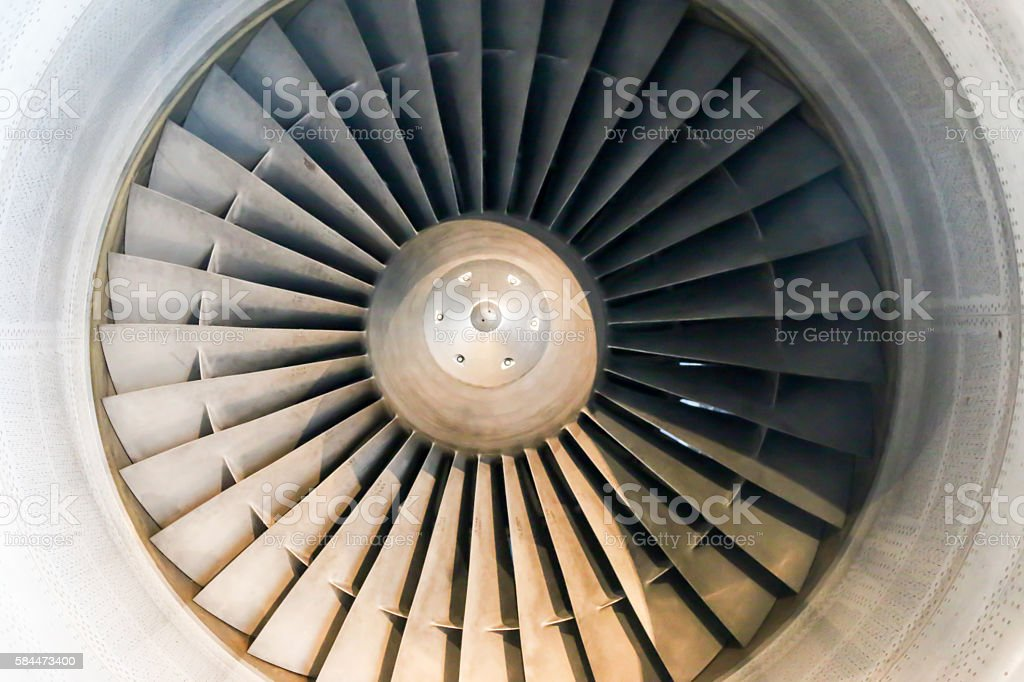 Front view of Jet engine Intake stock photo