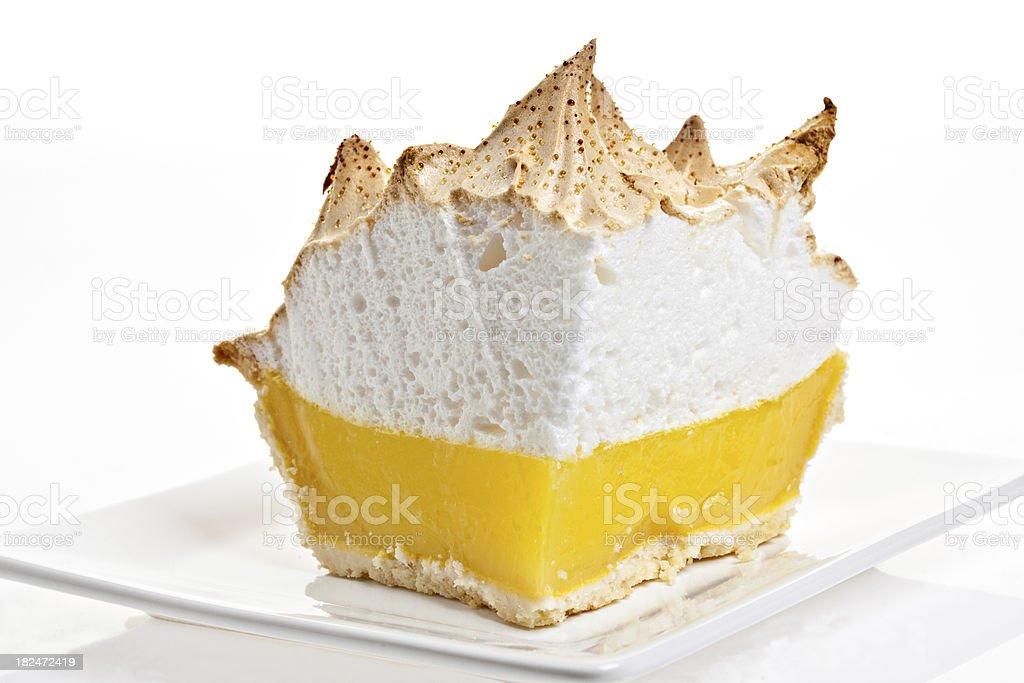 Front View Of Lemon Meringue Pie stock photo