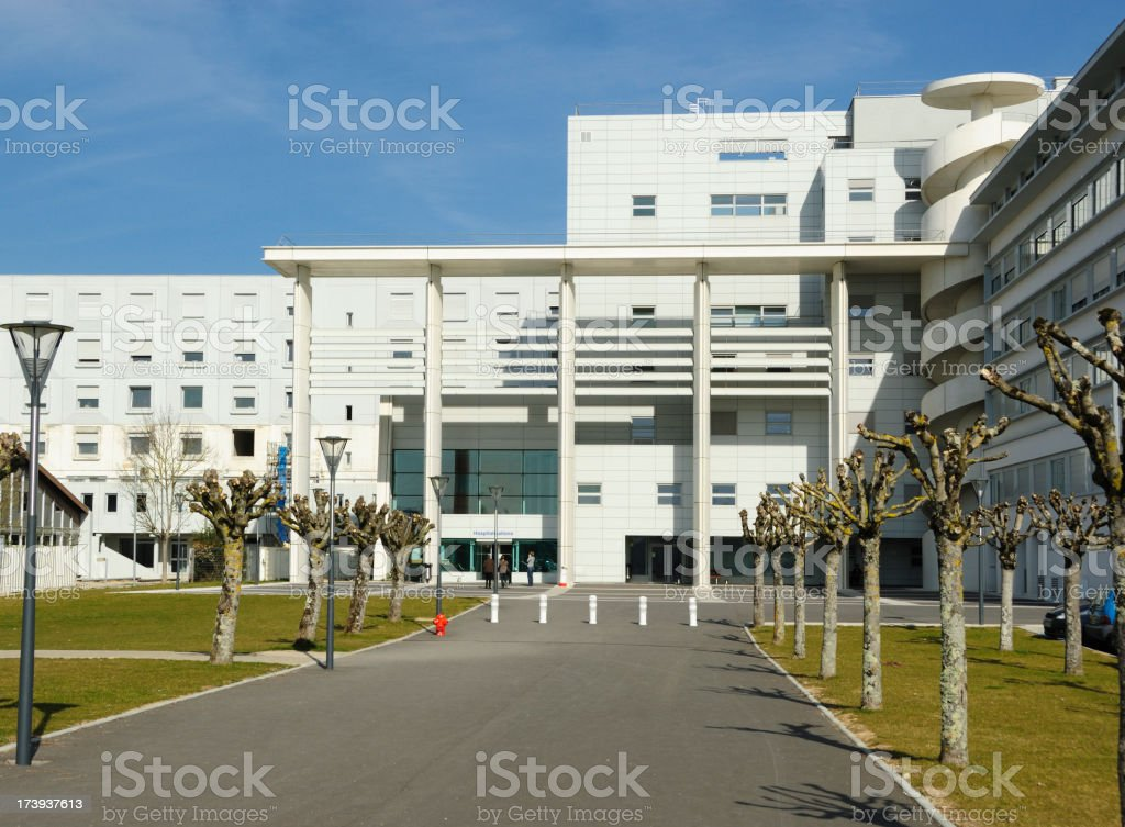 Front view of modern hospital building. royalty-free stock photo