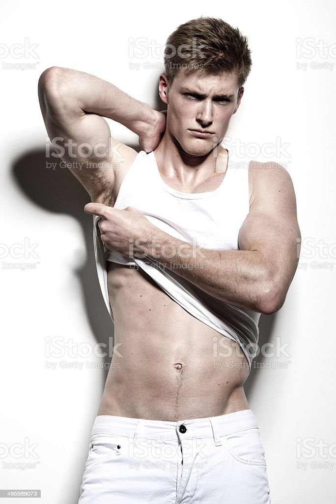 Front view of muscular man standing royalty-free stock photo