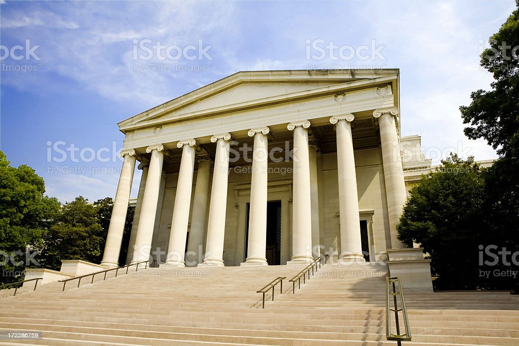 Front view of National Gallery of Art stock photo