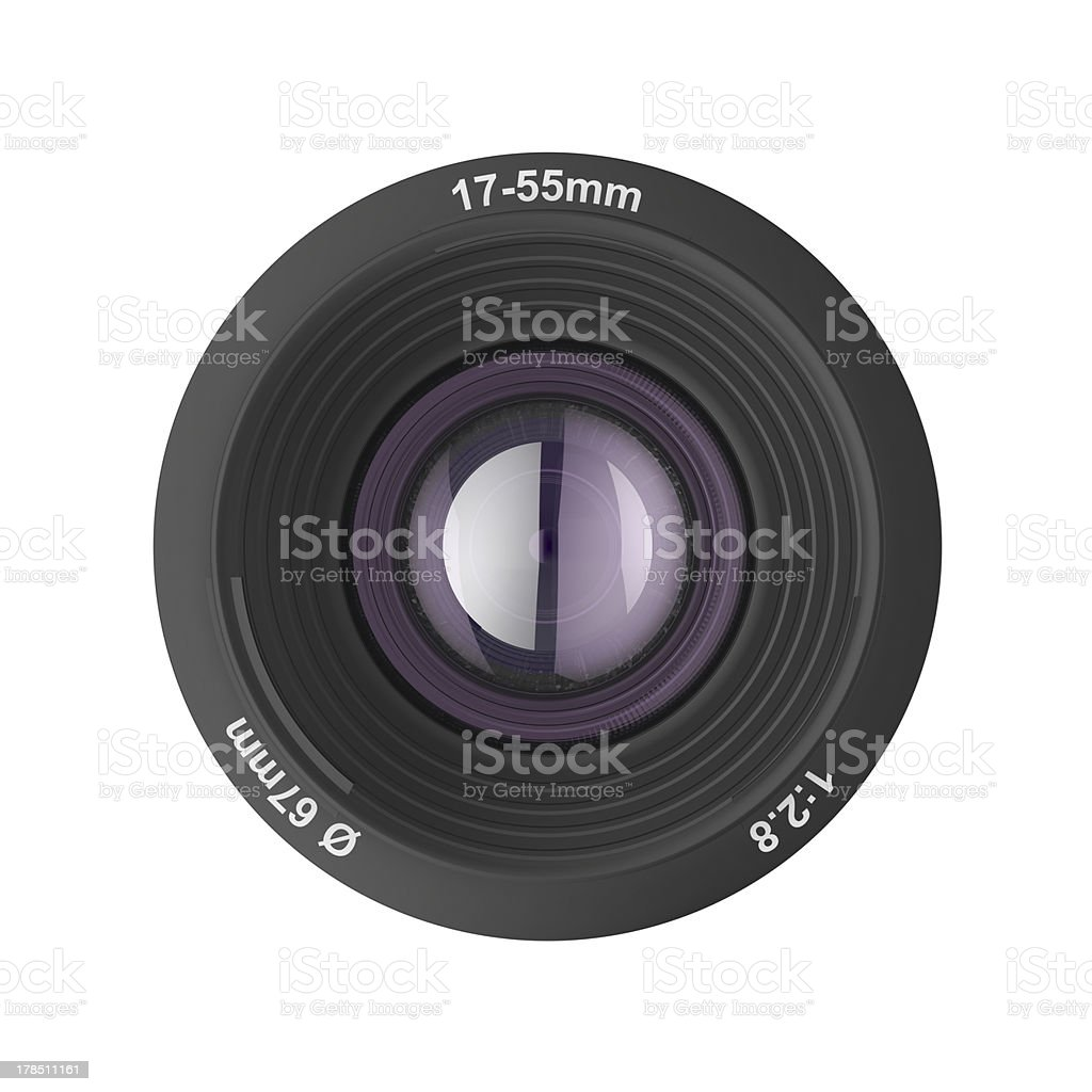 Front view of photographic lens royalty-free stock photo