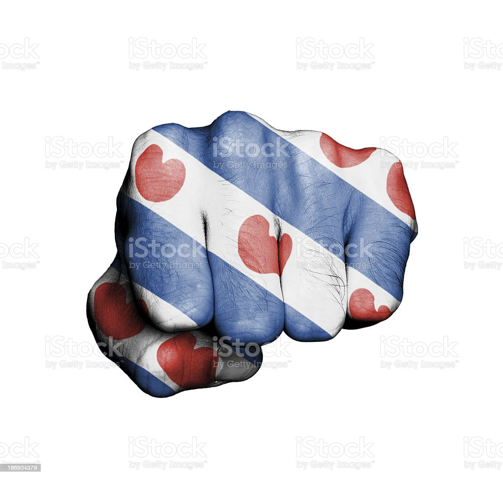 Front view of punching fist royalty-free stock photo