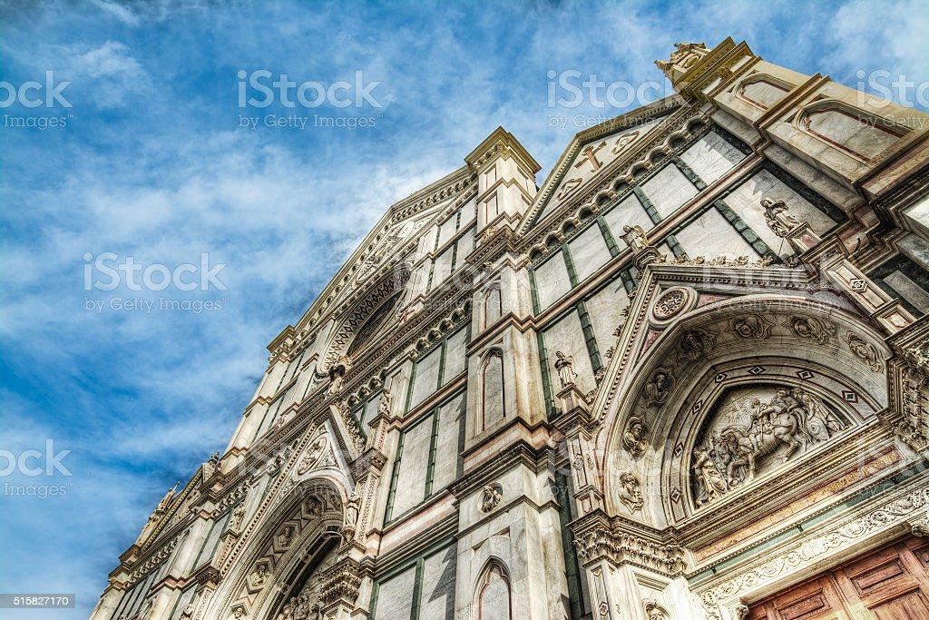 front view of Santa Maria Novella stock photo