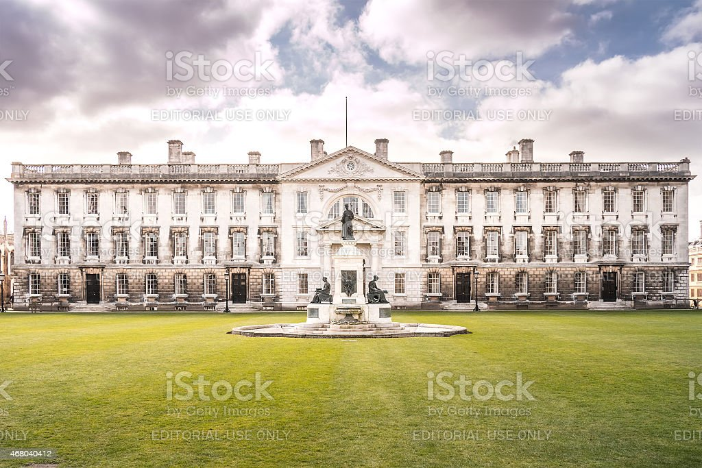 Front View of The Gibb's Building - University of Cambridge stock photo