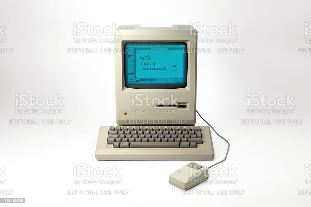 Front View of the Historic Macintosh 128k stock photo
