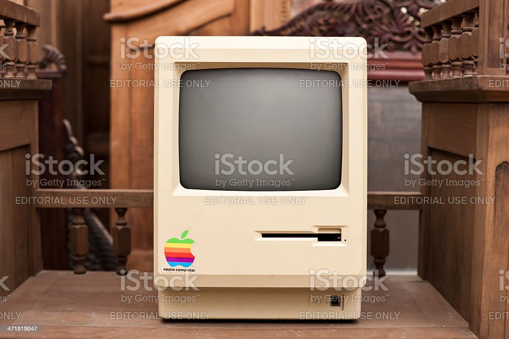 Front View of the Historic Macintosh 128k XXL royalty-free stock photo