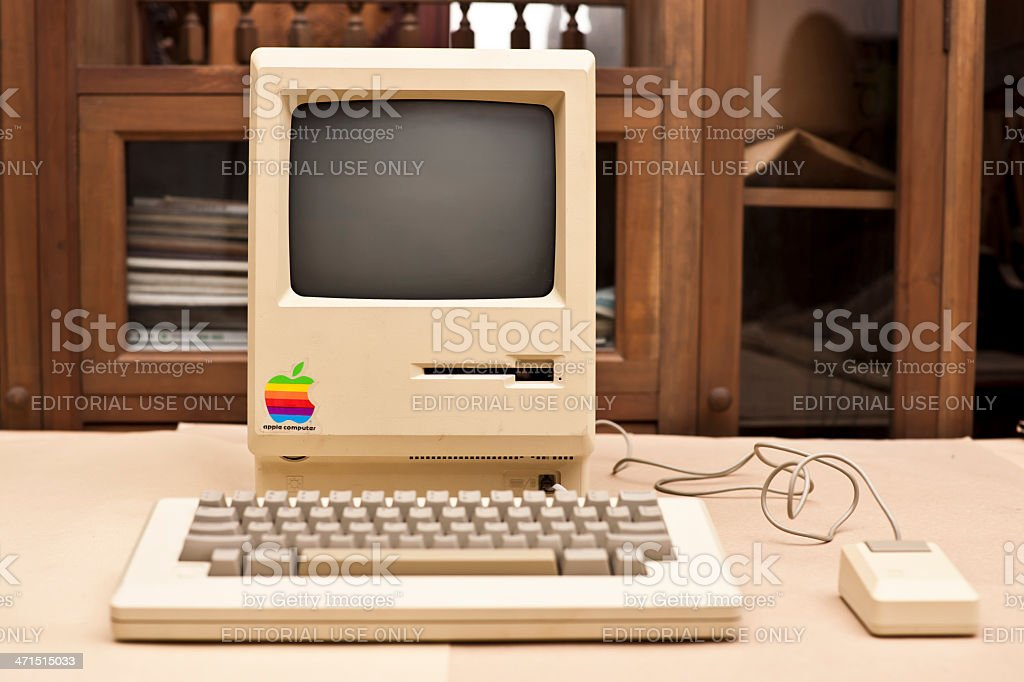 Front View of the Historic Macintosh 128k XXXL stock photo
