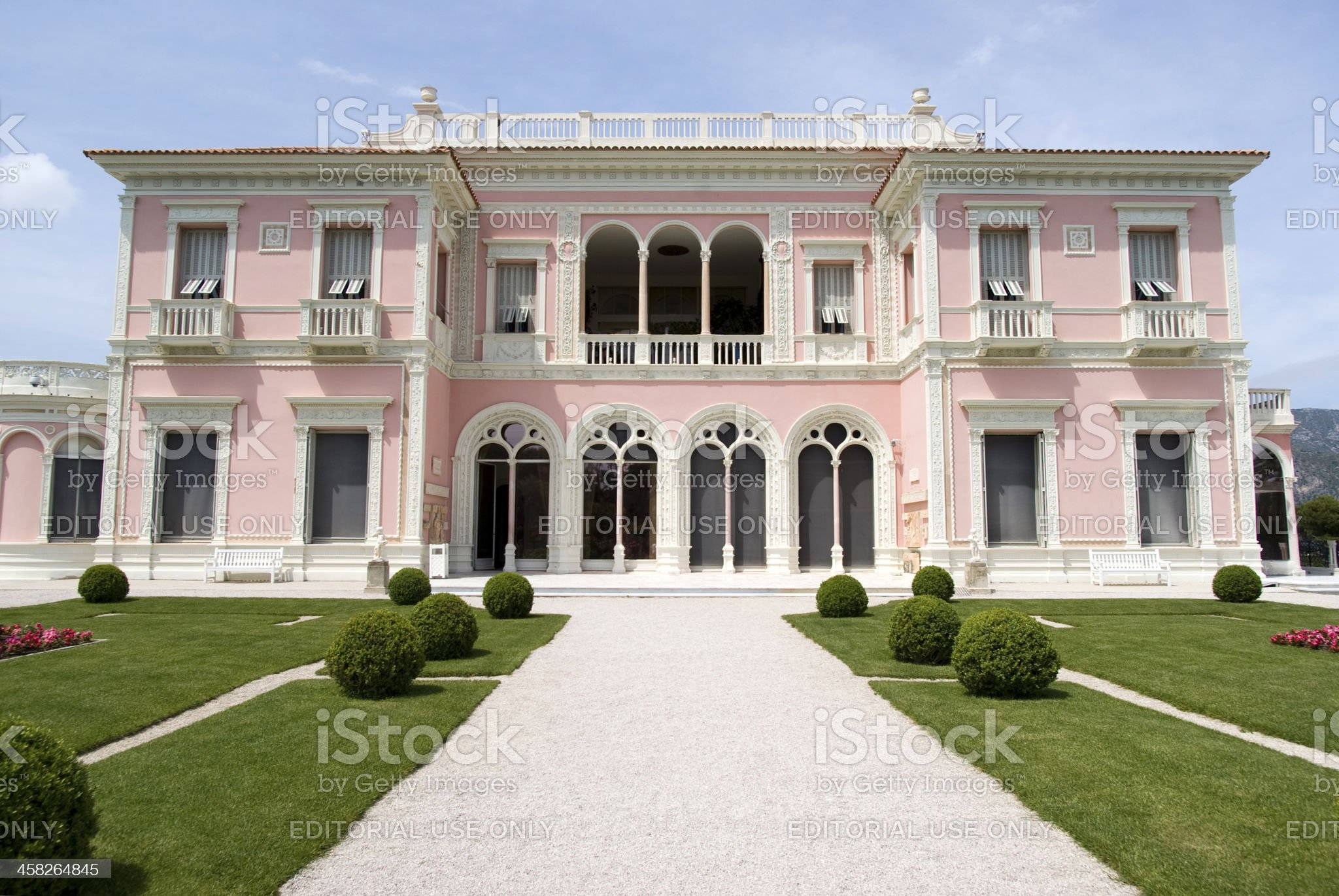Front view of the Villa Ephrussi de Rothschild royalty-free stock photo