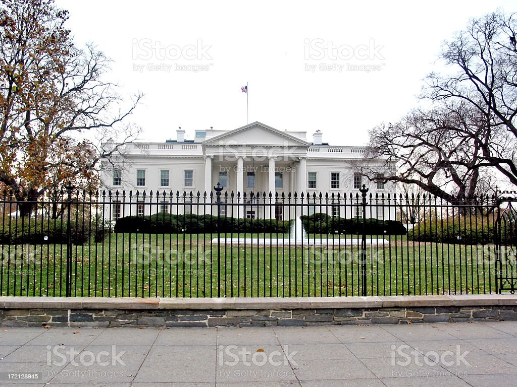 Front View of the WhiteHouse, Washington DC royalty-free stock photo
