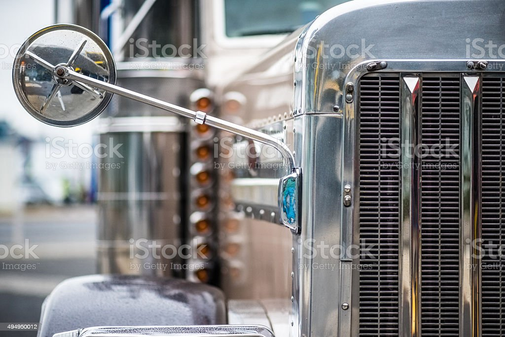 Front view of truck stock photo