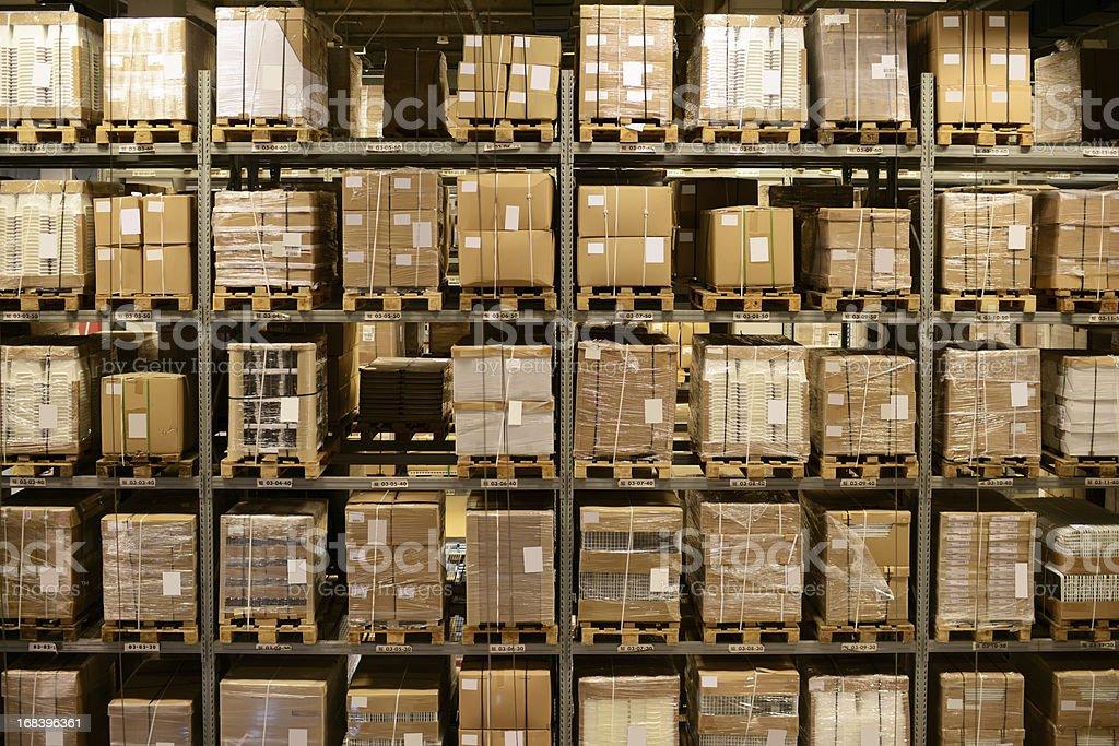 Front View of Warehouse and Cargo Shelf - XXXXXLarge stock photo