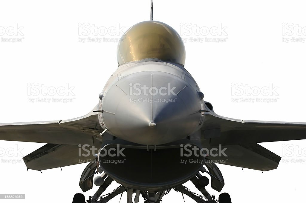 F16 Front View royalty-free stock photo