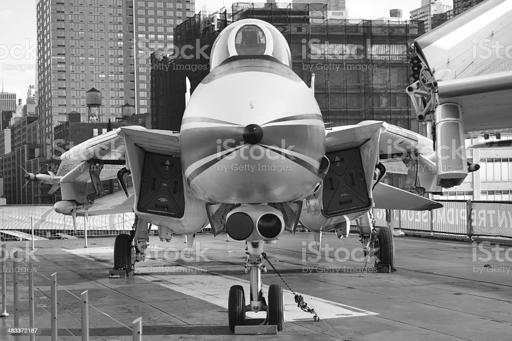 F-14 front view stock photo